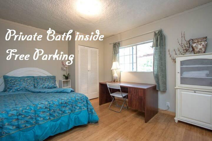 #1 Bedroom Private Bath