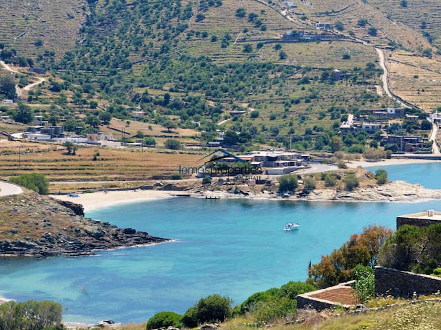View of the beaches in Koundouros