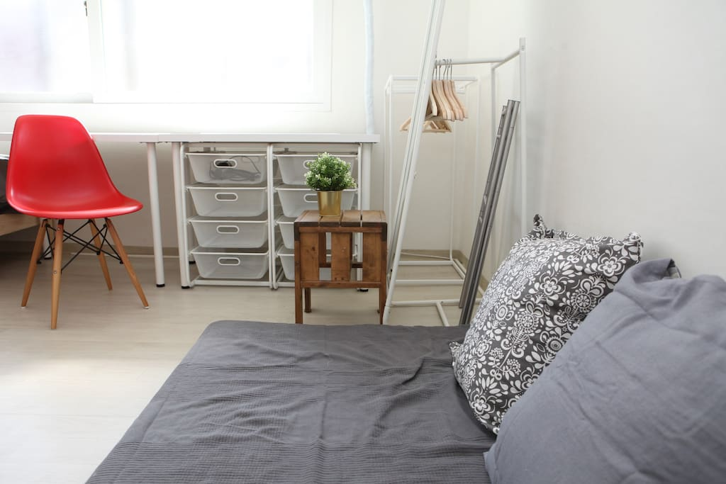 Two Semi double beds room