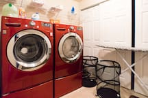 Front Load Washer and Dryer and Laundry Room