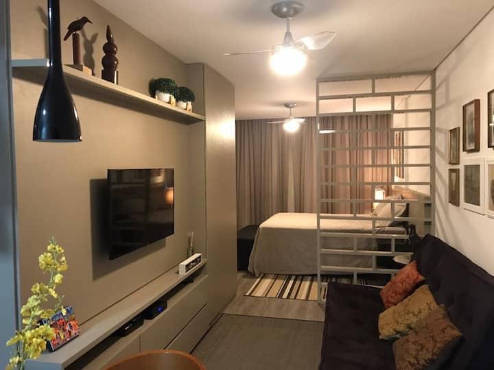 Loft Espaçoso, confortável no centro de BHte