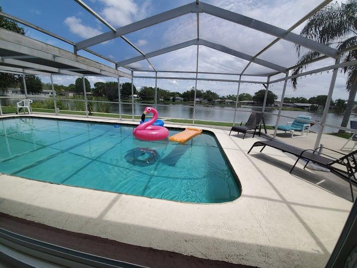 WOW Waterfront Pool Home by BEACH Sleeps 12