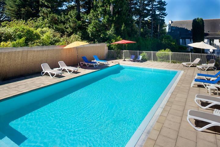 Gîte N°4 en bord de mer avec piscine chauffée - Larmor-Baden - Ev