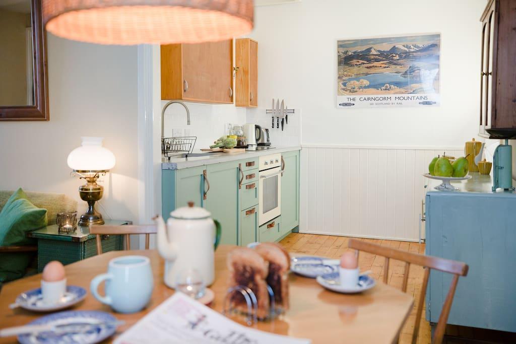 New galley kitchen