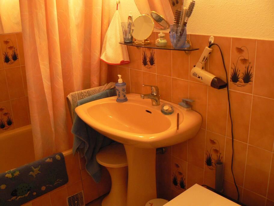 Une salle de bain des années 80