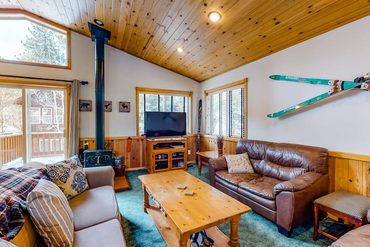 Dog-friendly home with private hot tub, free WiFi, washer/dryer, and wood stove