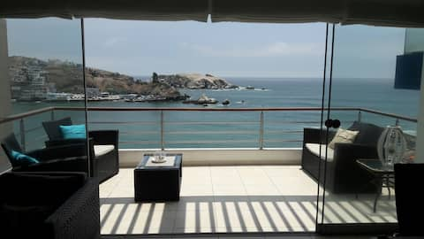 Bonito departamento frente a Playa Sur San Bartolo