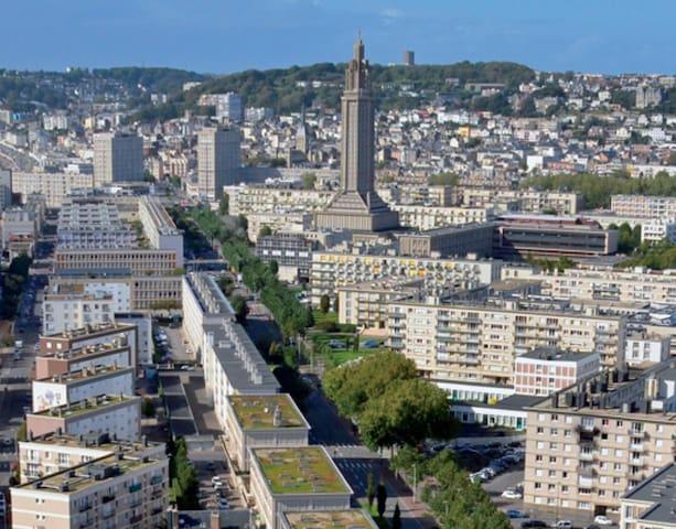 chambre dans F3 Le Havre - Le Havre - Apartemen