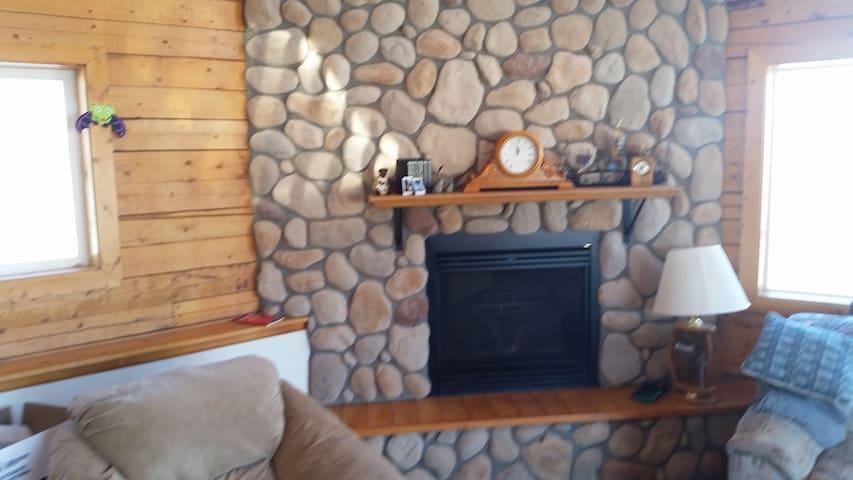 Main level living room off kitchen