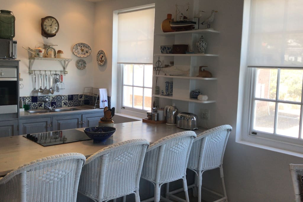 Our open plan kitchen dining area