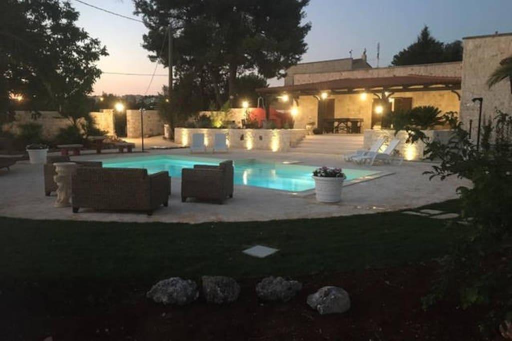 Villa indipendente con piscina privata a noci ville in - Casa vacanze con piscina privata ...