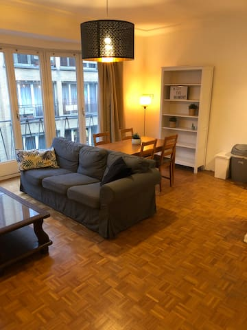 One bedroom flat of 60m² with balcony at Flagey