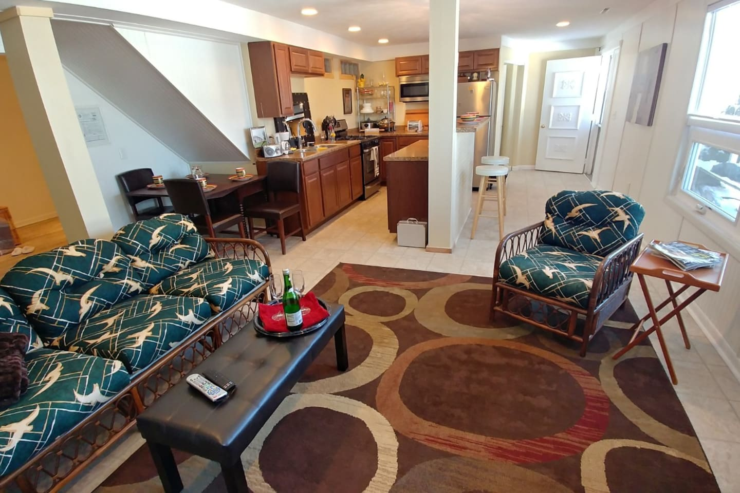 Studio means open floor plan small apartment, but bigger than a typical hotel room.