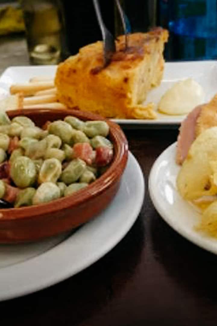Habas con jamon and Spanish Tortilla!