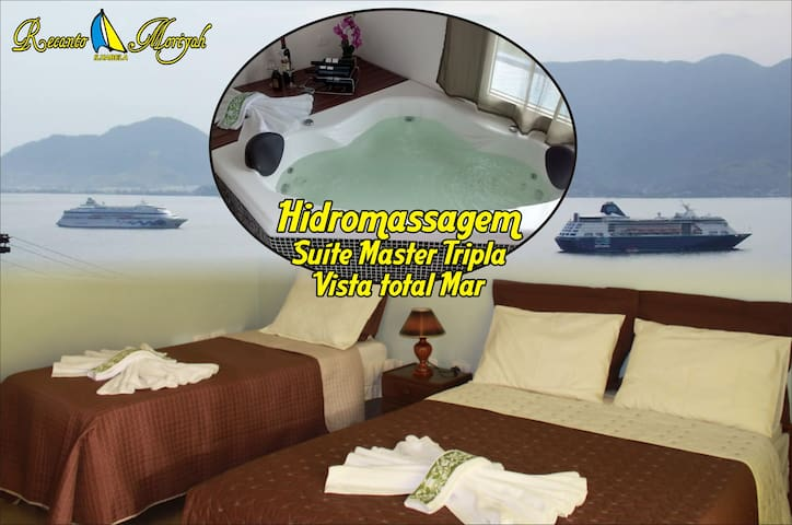 HIDROMASSAGEM Super Luxo Tripla - Ilhabela - Apartment