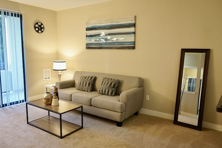 San Mateo Spacious SM 1bd Gym+Pool+Apple TV! (I)
