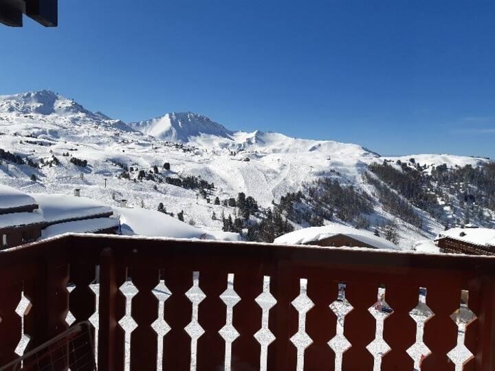 Belle Plagne, 2 pièces ski au pied vue montagne