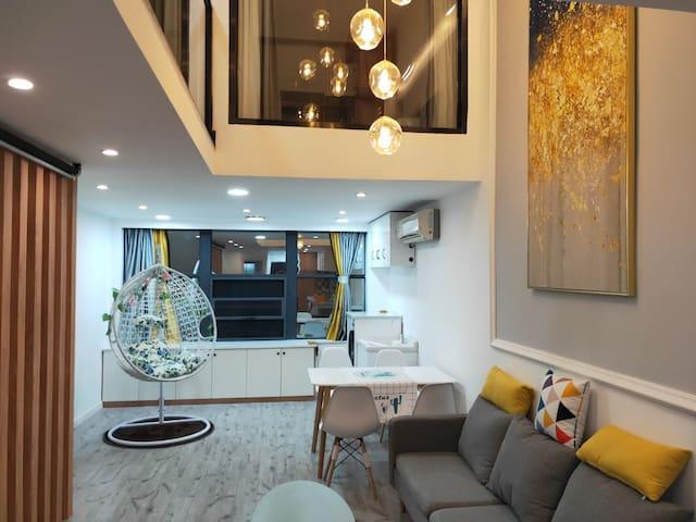 沙县|北欧复式轻奢loft公寓|私人影院|城区中心|体育公园