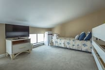 Loft Bedroom with 3 Twin Beds and Flat Screen Cable TV/DVD - Great Place for the Kiddos!