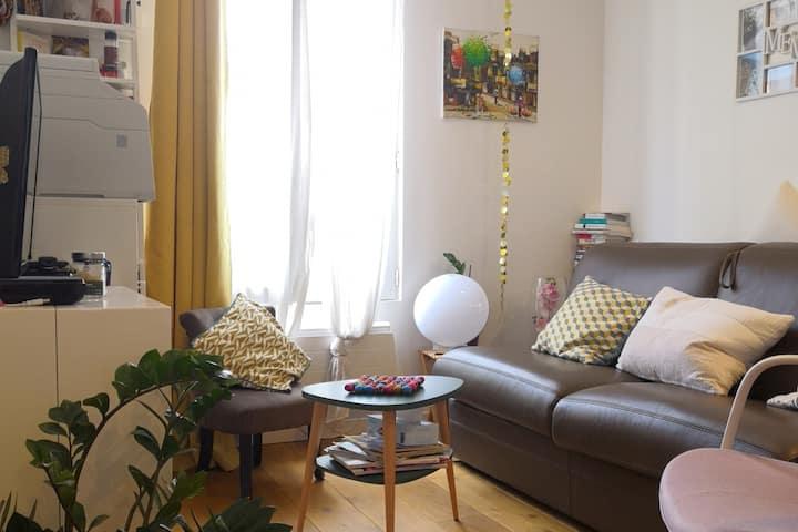 Studio confort, calme, côté jardin