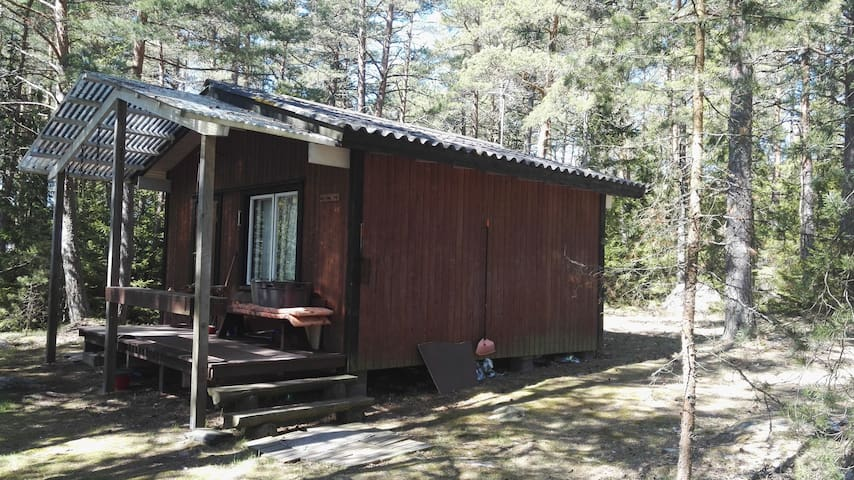 Cottage and sauna on island