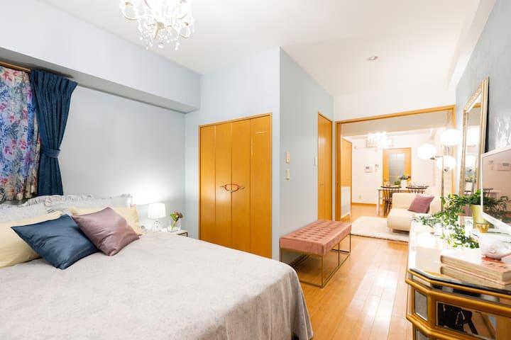 1min Shinsaibashi Doutonbori 2bedroom 1living 27