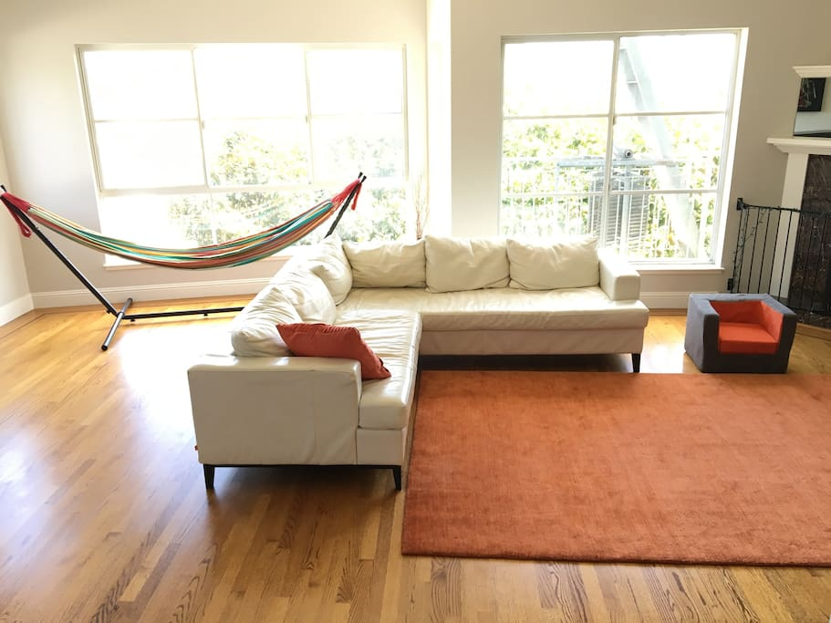 1700 Square feet of living space.  Lots of games, and a hammock!