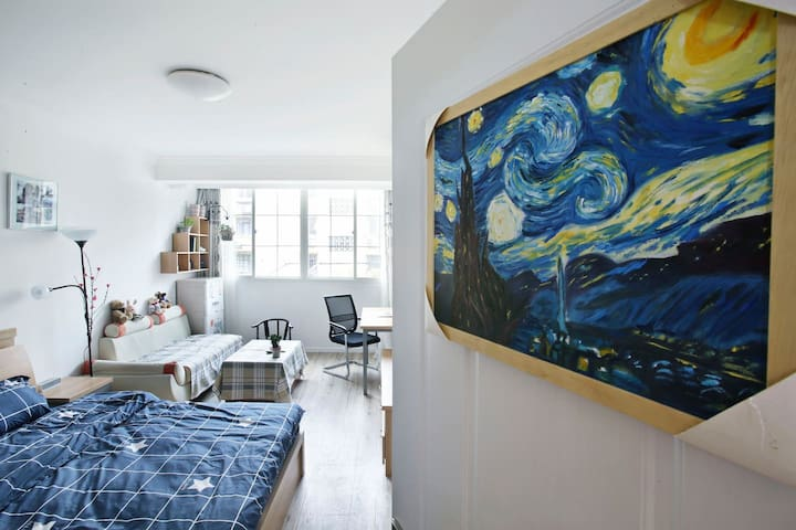 【Clean&Cozy】Huge room in city centre near Metro2 - Shanghai - Apartment