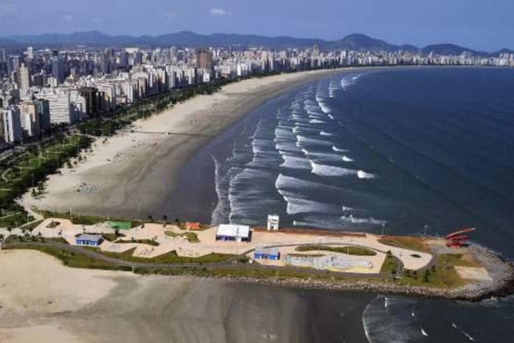 Praia de Santos vista aérea