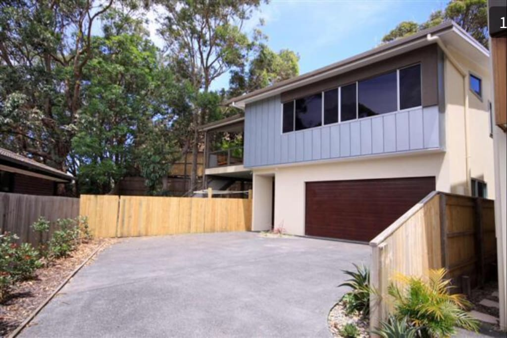 Northerly aspect with vegie patches and an outdoor hot shower surrounding the property