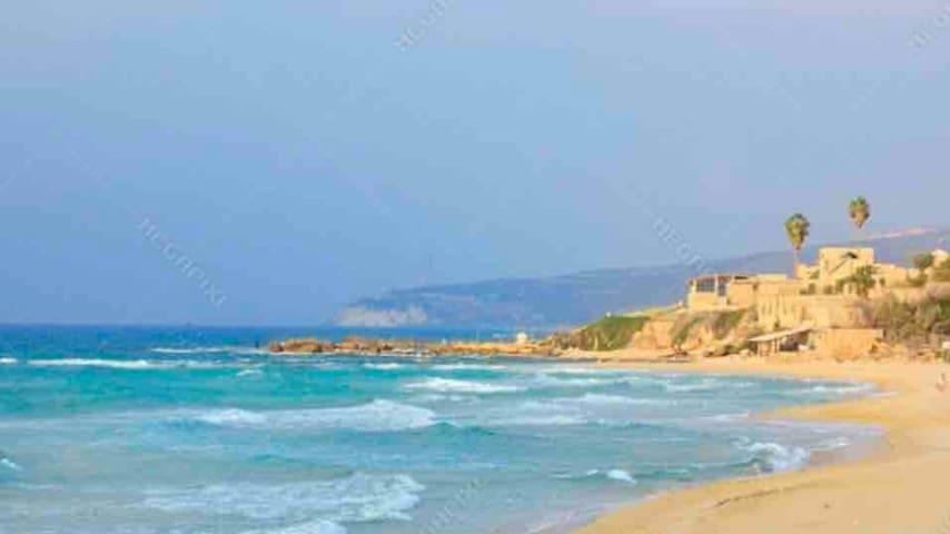 Mediterranean Sea beach apartment .