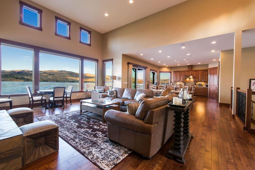 Azure Bay Waterfront Retreat - Main Living Space