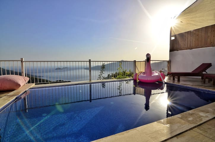 Villa Beyaz Unseen Pool Area and SeaView