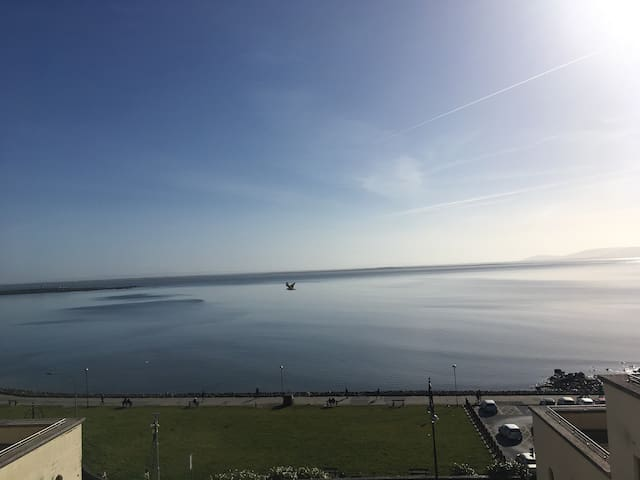 Oceanfront penthouse in heart of Salthill