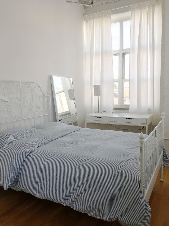Cozy Brightly Lit Room in Huge Loft Space