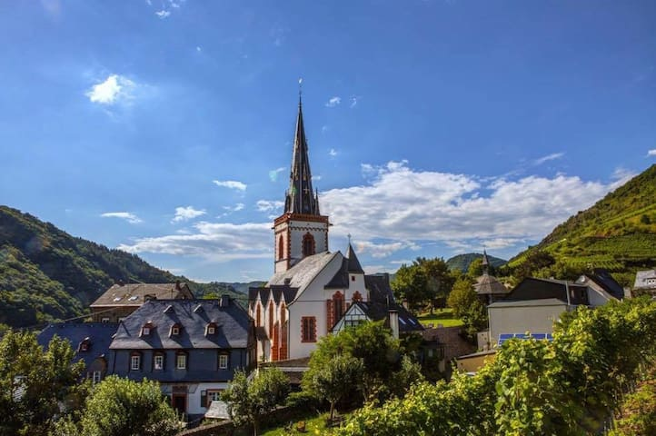 Blick auf die Kirche und den Springiersbacher Hof