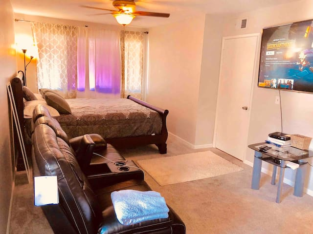 Spacious private master bedroom/ living Room.