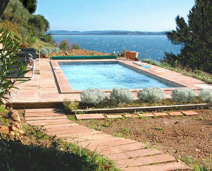 La mouette nature mer piscine au calme maisons for Piscine carqueiranne