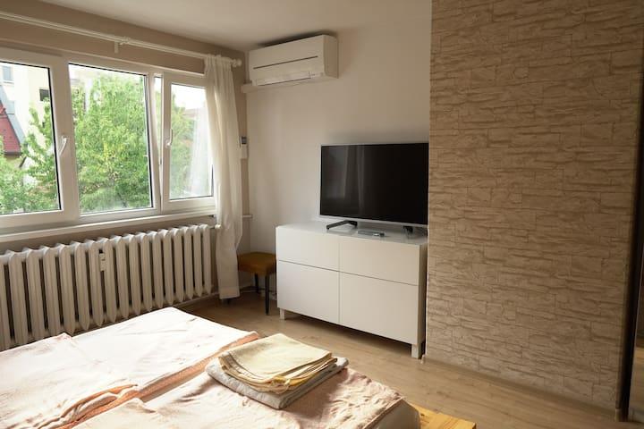 Bedroom with 4K Netflix/YouTube TV
