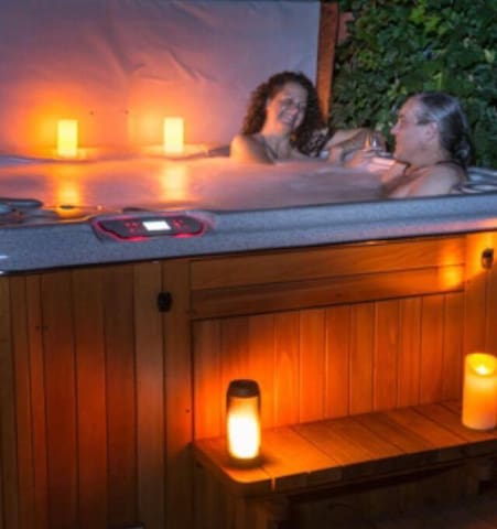 Enjoy our Private HydroPool Hot Tub Spa