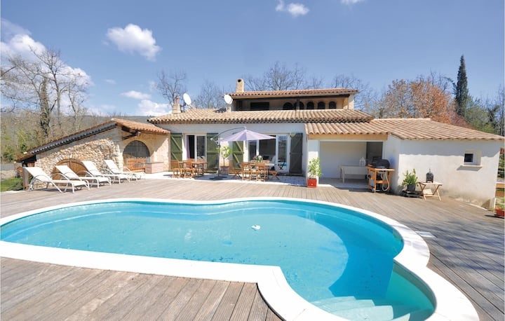 Beautiful home in St. Cézaire sur Siagne with WiFi and 4 Bedrooms