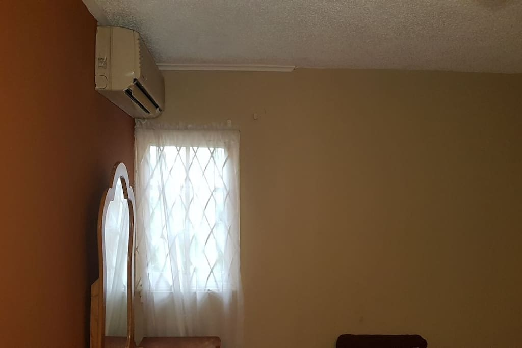 Bedroom: AC Unit & Window