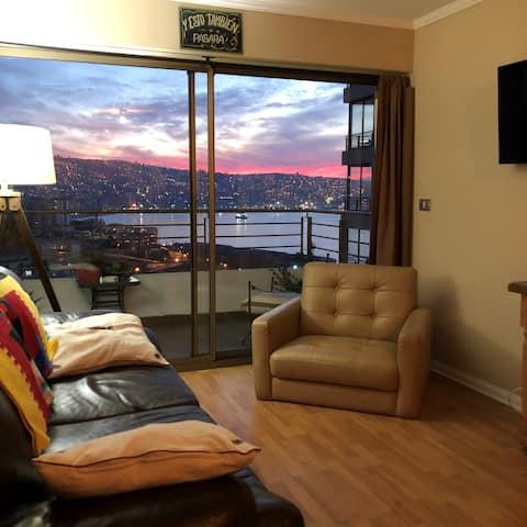 Departamento con hermosa vista a Valparaíso