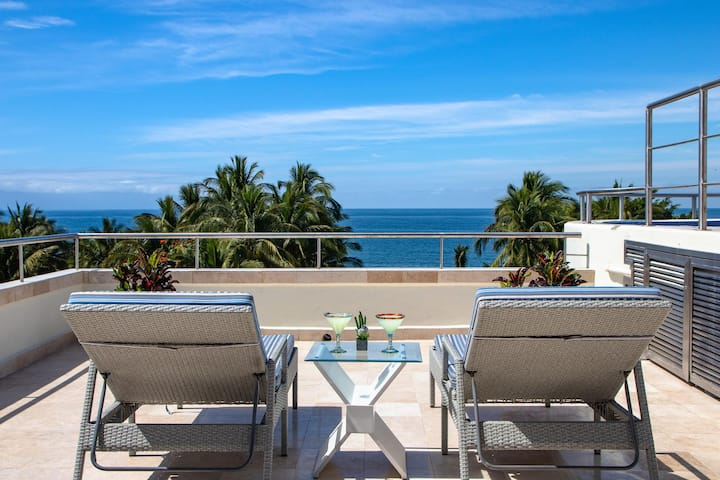 Nitta 2 bedroom Fantastic ocean Views with dipping pool and huge Deck