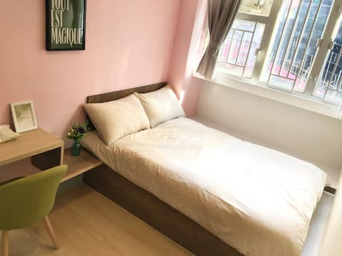 Superior Double Bed, Private Bathroom 2 Min to MTR