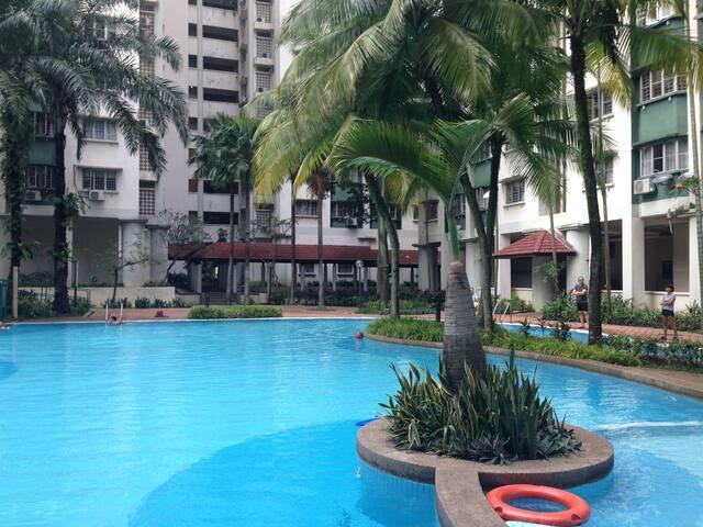 Cosy condo with outdoor pool