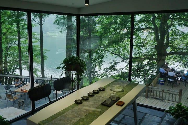 湖畔•两室两厅大玻璃望湖茶室(客厅空调)