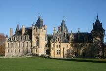l'arrivée au château de Prye