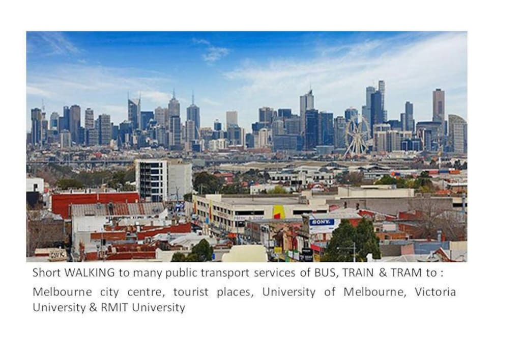 Melbourne city fringe location for short and easy travel to tourist places and universities