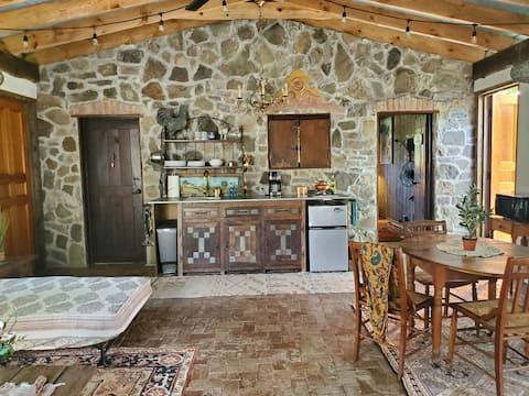 Upscale rustic Garden House